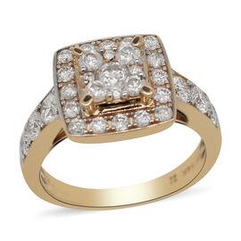 Set of 3 - 14K Yellow Gold Diamond (I1-I2/G-H) Ring 2.00 Ct, Gold wt 10.00 Gms