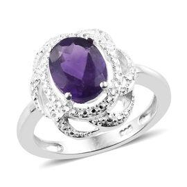 Amethyst (Ovl) Ring in Sterling Silver 1.500 Ct.