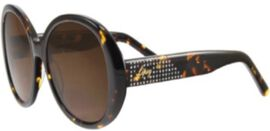 LIPSY Ladies Sunglasses with Metal Studded Decorative Temples - Tortoise