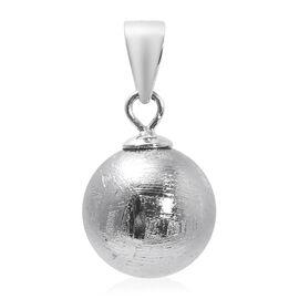 Meteorite Bead Pendant in Rhodium Overlay Sterling Silver 22.000  Ct.