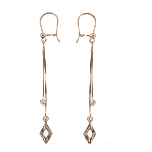 Royal Bali Collection-  9K Yellow Gold Diamond Cut Hook Earrings, Gold wt 1.81 Gms.
