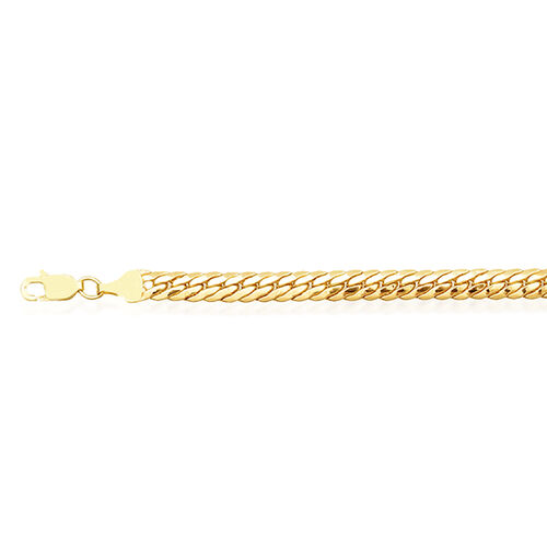 Vicenza Collection 9K Yellow Gold Curb Bracelet (Size 7.5), Gold wt 4.33 Gms.