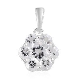 1 Carat Petalite Floral Pendant in Sterling Silver