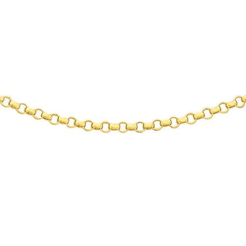 ILIANA 18K Yellow Gold Round Belcher Chain (Size 16)
