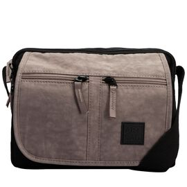 Artsac - Black and Grey Multipocket Crossbody Bag (Size 240x180x160 mm)