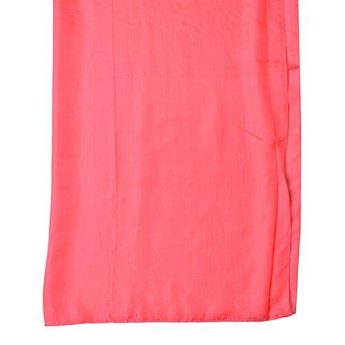 100% Mulberry Silk Grenadine Colour Scarf (Size 175X90 Cm)