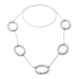 Rhodium Overlay Sterling Silver Necklace (Size 36), Silver wt 30.61 Gms