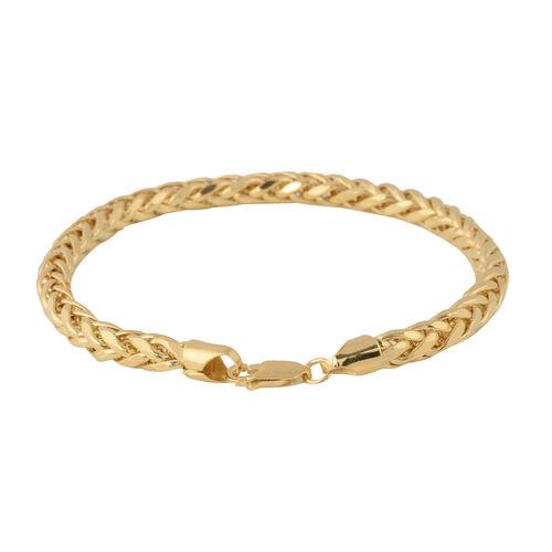 JCK Vegas Collection- 9K Yellow Gold Spiga Bracelet (Size 8.5), Gold wt 8.66 Gms