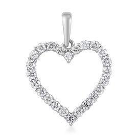 RHAPSODY 950 Platinum IGI Certified Diamond (VS/E-F) Open Heart Pendant 0.50 Ct