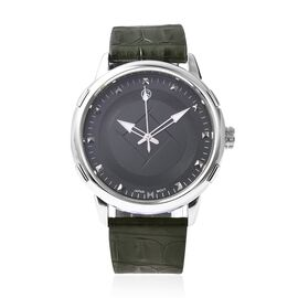 STRADA Japanese Movement Water Resistance Watch in Stainless Steel - Army Green
