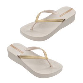 Ipanema Mesh Wedge Flip Flop in Ivory