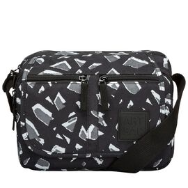 Artsac - Black and White Colour Multipocket Crossbody Bag (Size 270 x190 x110 mm)