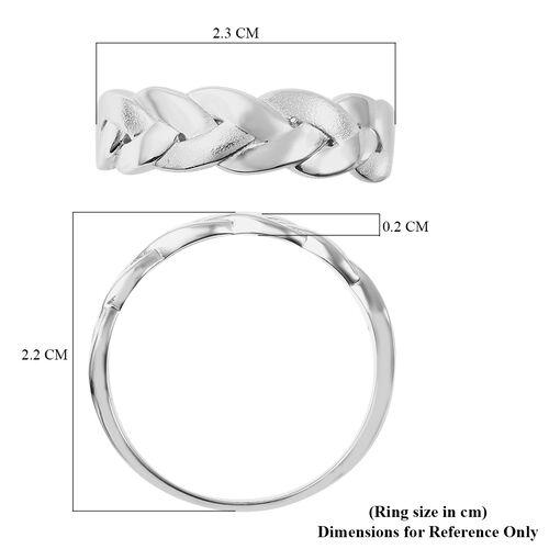 RACHEL GALLEY Sandblast Collection - Rhodium Overlay Sterling Silver Braid Design Ring