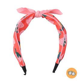Strawberry Pattern Knot Headband in Orange Colour (Size 39.4x5 Cm)