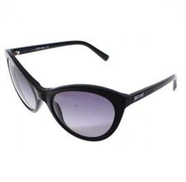 JUST CAVALLI Black Cat-Eye Sunglasses with Grey-Blue Lenses