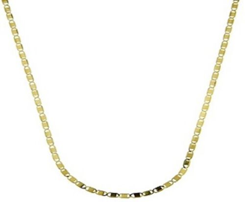 Italian Made Gold Overlay Sterling Silver Mariner Necklace (Size 18)