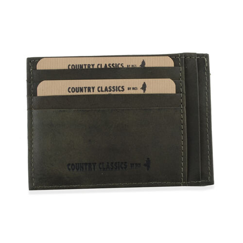 MCS Country Classics 100% Genuine Leather Wallet (8x11cm) - Dark Green
