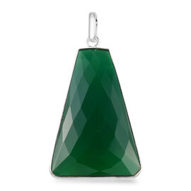 Verde Onyx Solitaire Pendant in Sterling Silver 58.311 Ct.