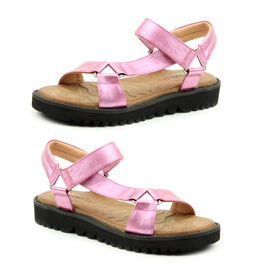 Heavenly Feet Olympia Sandal (Size 3) -Fuchsia