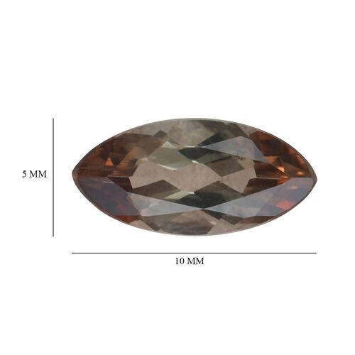 AA Andalusite Marquee 10x5 Faceted 0.84 Cts