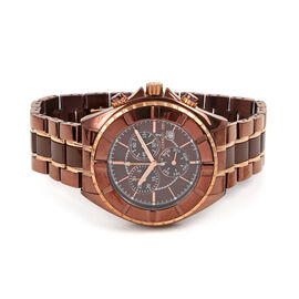 CERRUTI 1881: Stainless Steel Chronograph Unisex Watch - Water Resistant 10 Bar - Swiss Parts - Choc