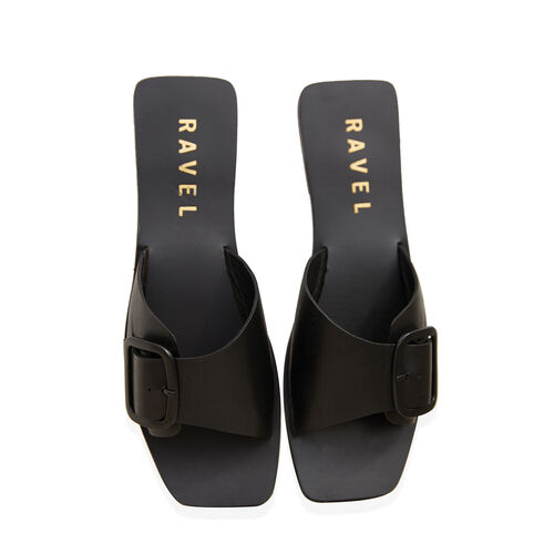 Ravel Moree Leather Mule Sandals (Size 7) - Black