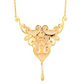 Lucy Q Lace Dripping Necklace in Gold Plated Silver 16 with 4 inch Extender