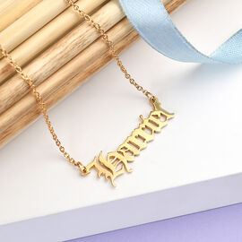 Personalised Name Necklace in Silver, Font - Old English Text MT