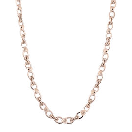 9K Yellow Gold Infinity Heart Link Necklace (Size 20) with Lobster Clasp,  Gold Wt. 16.51 Gms