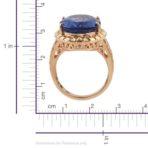 Colour Change Fluorite (Ovl) Ring in 14K Gold Overlay Sterling Silver 19.000 Ct.