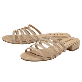 Ravel Alena Womens Slip On Sandals with Studded Straps in Beige
