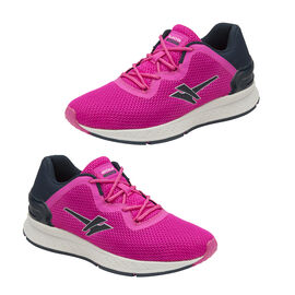 Gola Major 2 Lace Up Trainers in Pink and Navy Colour
