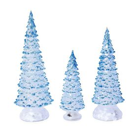 Set of 3  - Decorative Multicolour Light Changing Tree with Three Different Sizes - Blue (LR1130x3Pc