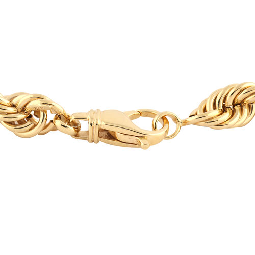Hatton Garden Close Out-9K Yellow Gold Rope Necklace (Size 20), Gold Wt. 33.55 Gms (1.1 Troy Ounce)