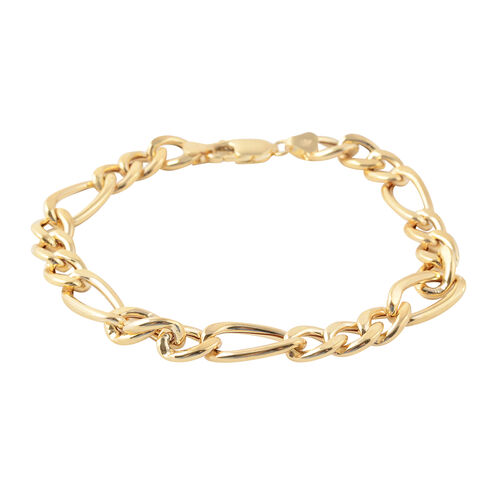 9K Yellow Gold Figaro Bracelet (Size 8), Gold wt 6.10 Gms