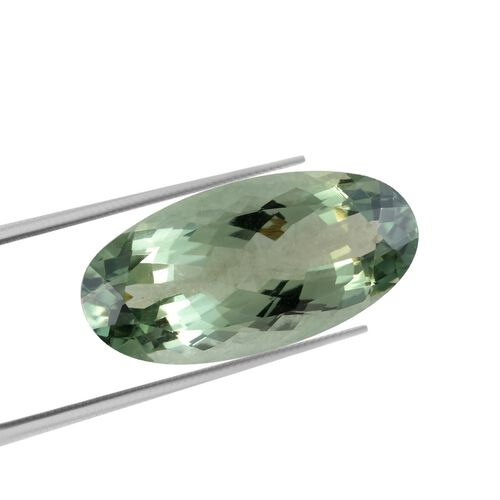 AAA Prasiolite Oval 28x14 Faceted 22.27 Cts