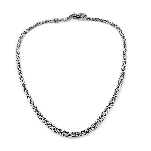 Royal Bali Collection Sterling Silver Borobudur Necklace (Size 20), Silver wt 81.75 grams