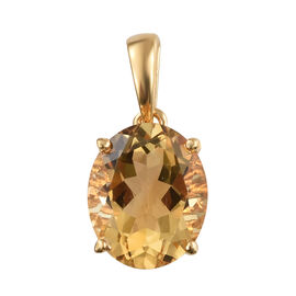 Citrine (Ovl 12x10 mm) Pendant in 14K Yellow Gold Overlay Sterling Silver 4.250 Ct.
