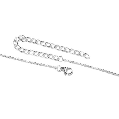LucyQ Natural Cambodian Zircon (Rnd) Necklace (Size 16 with 4 inch Extender) in Rhodium Overlay Sterling Silver, Silver wt. 25.13 Gms