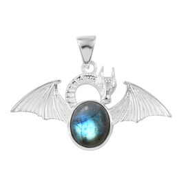 Hand Made Labradorite (Ovl) Dragon Pendant in Sterling Silver 5.510  Ct.