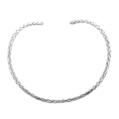 Royal Bali Collection Weaved Collar Necklace in Sterling Silver 38.75 Grams 16 Inch