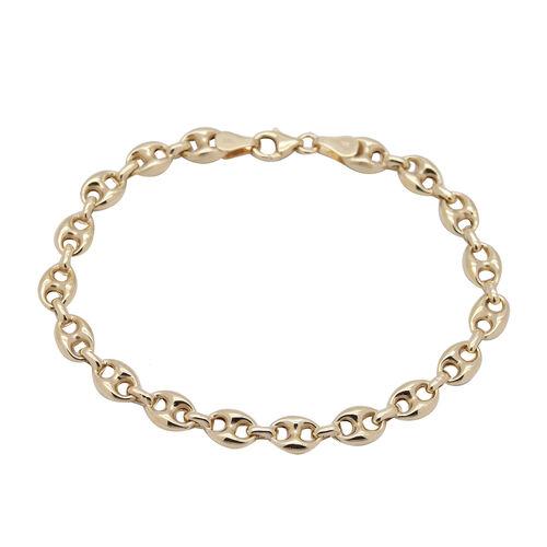 9K Yellow Gold Marine Link Bracelet (Size 7.5), Gold wt 4.55 Gms