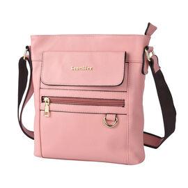 SENCILLEZ Womens Genuine Leather Crossbody Bag with Shoulder Strap - Pink