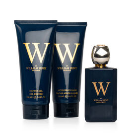 William Hunt Set: Incl. (Eau  De Toilette - 100ml, Shower Gel - 150ml & After Shave Balm - 150ml)