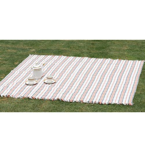 100% Cotton Bedspread/Sofa Protector Chocolate, Beige and Multi Colour Tartan Check (Size 240x150 Cm)