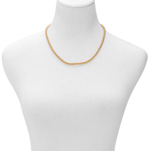 Braided Necklace (Size 20) and Bracelet (Size 8 with 1 inch Extender) in Yellow Gold Plated Stainless Steel