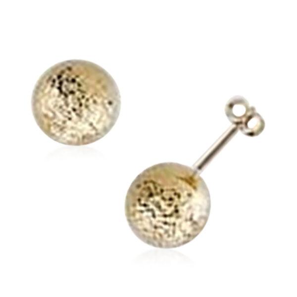 Diamond Cut Stud Earrings in 9K Yellow Gold