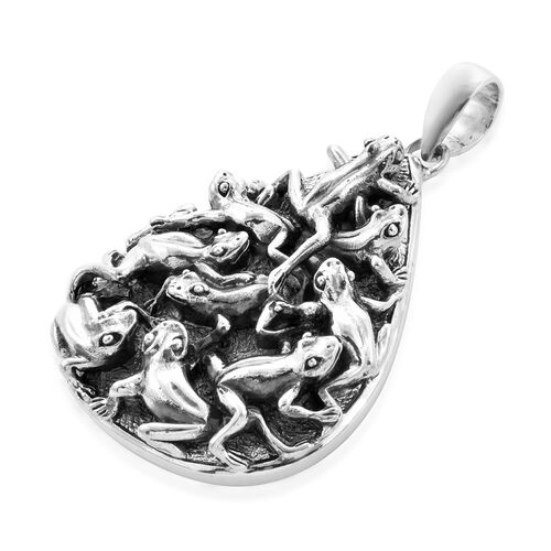 Bali Legacy Collection - Sterling Silver Frog Pendant, Silver wt. 25.80 Gms