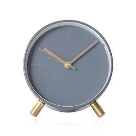 Decorative Round Shape Alarm Clock White Colour - Grey