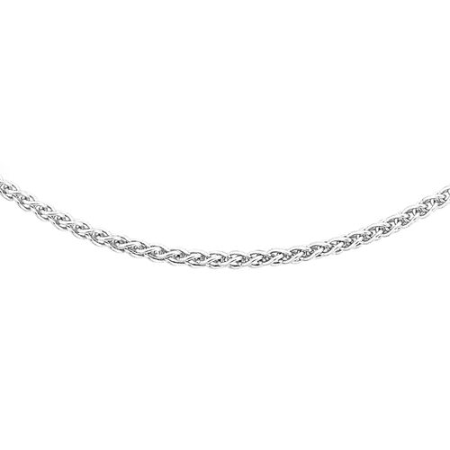 One Time Close out Deal- RHAPSODY 950 Platinum Mini Spiga Necklace (Size 18), Platinum Wt 3.90 Gms.